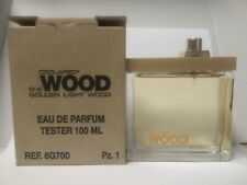 DSQUARED2 SHE WOOD GOLDEN LIGHT WOMEN 3.3/3.4 OZ EAU DE PARFUM EDP SPRAY TESTER