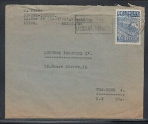 BELGIUM Commercial Cover Liége to New York City 31-7-1957 Cancel