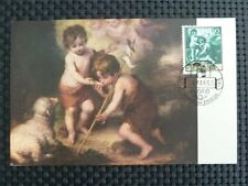 SPAIN MK 1960 MURILLO PAINTING MAXIMUMKARTE CARTE MAXIMUM CARD MC CM c1857