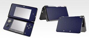Blue Carbon Fiber Vinyl Decal Skin Sticker Case for Nintendo 3DS