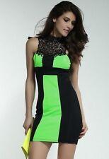 Minivestido espalda libre m 38 vestido club vestido de fiesta vestido al cuello con punta