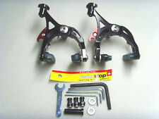 Super light CNC Road Bike Brake Calipers  Black SwissStop pads, Bolts TI