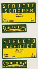 STRUCTO  SCRAPPER  DECAL  SET