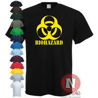 BIOHAZARD emo gamer cool rock music zombie apocalypse armeggedon T-shirt