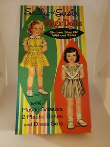 Sally and Susie Magic Dolls Paper Dolls BOX ONLY Vintage 1961