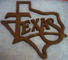 """Cast Iron State of Texas Shape Wall Hanging Appr 11 3/4"""" x 11 1/2"""" Outdoor Decor"""