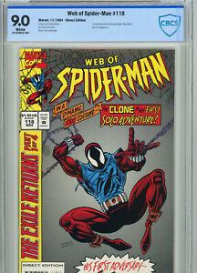 Web of Spider-Man 118 (1994) CBCS 9.0 1st Scarlet Spider Venom App Key Issue