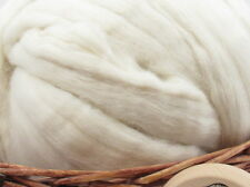 White Baby Alpaca Top - Undyed Natural Spinning Fiber/ Roving - 1oz