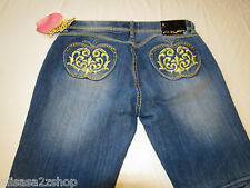 Apple Bottom Jeans Fresh Picked Dailey  Womens juniors Denim 9/10 blue NWT#