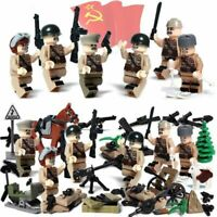 WW2 Battle Moscow Soviet Russian Army Soldiers Figure Block Brick Kids Toy Gift,