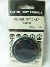 Dot 55mm Metal Screw-in Stack Cap Protect Store Filter Case Solid Aluminum 55