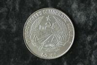 50 KIP Laos 1991 Fussball Silber,Münzkapsel
