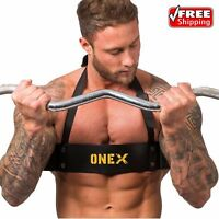 Weight Lifting Gym Arm Blaster Bomber Bicep Isolator Curl Bar Training Body Buil