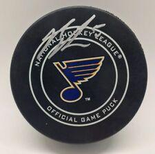 SIGNED AUTO OFFICIAL NHL GAME ST Louis Blues JORDAN BINNINGTON New