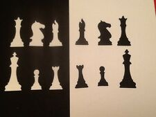 36 x Silhouette die cut CHESS PIECES (6 designs)  **FREE UK POSTAGE**