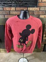 Walt Disney World Store Mickey Mouse Red Raglan Sweatshirt Womens Size Small