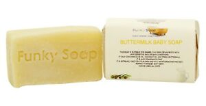1 piece Buttermilk Baby Soap, 65g, 100% Natural Handmade Fragrance Free