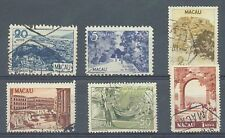 More details for macao 1948-50 pictorials sg.415, 422, 428, 431, 433-4 used