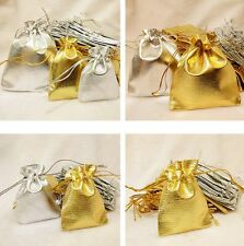 Wholesale Gold Silver Organza Wedding Party Favor Gift Candy Bag Packing Jewelry