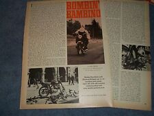 "1967 Rapido Harley-Davidson Aermacchi Vintage Info Article Bombin' Bambino"""