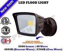 40 WATT Bronze Dusk to Dawn Photocell ETL DLC LED Flood Outdoor Security Light