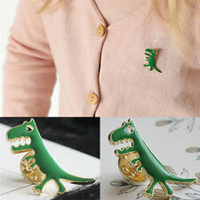 Bag Backpack Accessories Kids Gift Nmc Green Dinosaur Badge Lapel Pin Brooch For