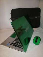Green Chrome Sony Vaio T Series Touchscreen 500gb 4gb Windows 10 Pro 1.80GHz