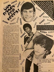 Randolph Mantooth, Randy, Full Page Vintage Clipping
