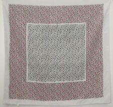 "TERRIART Pink, Green, White Mini-Fleures 26"" Square Scarf-Vintage Bloomies"