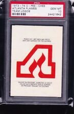 73-74 1973-74 O-PEE-CHEE ATLANTA FLAMES TEAM LOGOS PSA 10 GEM MINT ONLY 10!