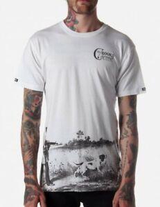 Crooks & Castles Masqued Men's T-Shirt White Size Large