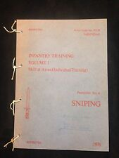 LEE ENFIELD L42A1 No4T SNIPER RIFLE PAMPHLET MANUAL HANDBOOK SAS PARAS FALKLANDS