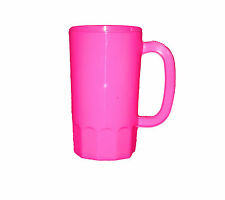 8 Pink Plastic Beer Mugs Large 32 Ounces, Made in America, Lead Free, No Bpa*