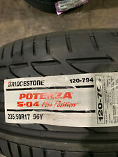 1 New 235 50 17 Bridgestone Potenza S-04 Pole Position Tire