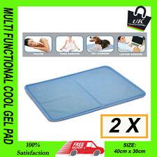 2X MULTI FUNCTIONAL COOL GEL PAD COOLING PILLOW BED MATTRESS TOPPER YOGA CAR PET