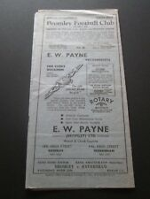 Football Programme - Bromley v Walthamstow Avenue 6/4/1953