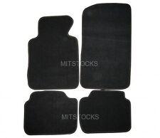 FIT FOR 99-05 BMW E46 3-SERIES BLACK NYLON CARPET FLOOR MAT 4 PCS NEW
