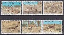 Bahrain 1982 ** Mi.323/28 Tiere Animals Gazelle Oryx Hase Wüstenwaran