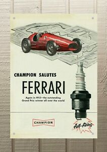 Champion Petrol Oil Man Cave Metal A4 Sign