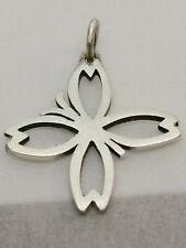 James Avery Sterling Silver Butterfly Cross Pendant