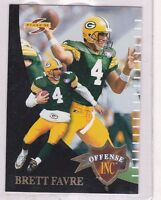 """1995 BRETT FAVRE - Score """"Offense Inc"""" Football Card # OF8 - Green  Bay Packers"""