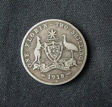 Munt Australië/Australia:  1 Florin (2 Shillings) 1918 M (zilver)