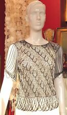 LORIS AZZARO VINTAGE TOP LUREX CHAINES 1970 EXCELLENT ETAT SMALL MEDIUM