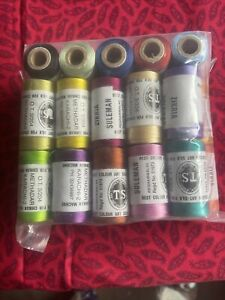 25 Spools Of Silk..For Machine Sewing, And For Surface Sewing Too !!