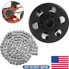 """Centrifugal Go Kart Clutch 3/4"""" Bore 10 Tooth with 420 Chain Kit 6.5HP Engine"""