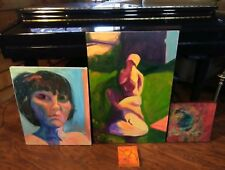 4 Ringling Family Oil Paintings D'Lee Ringling Two Are Signed