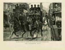 1883-ANTIQUE PRINT London Millbank PRISON DE BOW STREET Fenian Dynamite (139B)