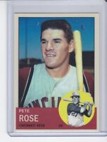 Pete Rose Cincinnati Reds rookie custom card by Bob Lemke '63 style #578  🔥
