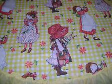 """Holly Hobbie~Carrie~Licensed~Wa rds Exclusive~Vintage Fabric~Bonnet Girl~66""""x 32"""""""