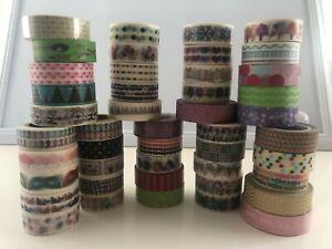 Bulk Japanese Washi Tape - 5 x Assorted washi tape Set 62-70  - 15mm x 10m